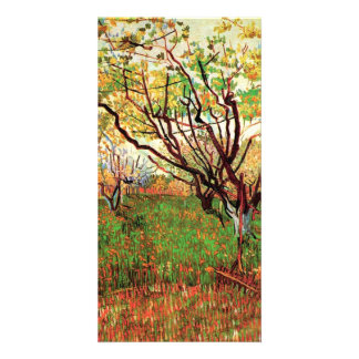 Orchard in Blossom, Vincent van Gogh. Customised Photo Card