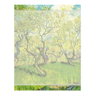 Orchard in Blossom, Vincent van Gogh. Personalized Flyer