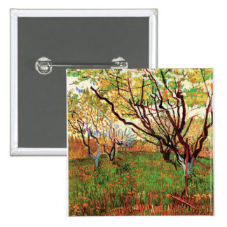Orchard in Blossom Vincent van Gogh Pinback Button