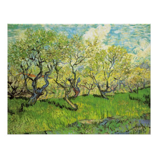 Orchard in Blossom, Vincent van Gogh Poster