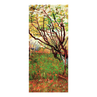 Orchard in Blossom, Vincent van Gogh. Rack Card Template