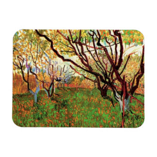 Orchard in Blossom, Vincent van Gogh Rectangular Photo Magnet