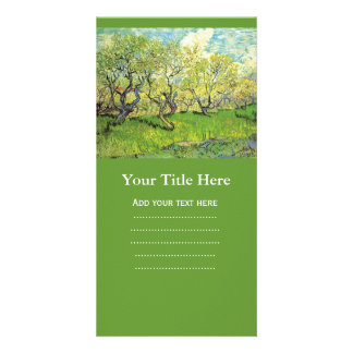 Orchard in Blossom. Vintage floral, Van Gogh Customized Photo Card