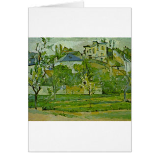 Orchard in Pontoise by Paul Cezanne Card