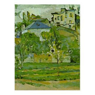 Orchard in Pontoise by Paul Cezanne Postcard