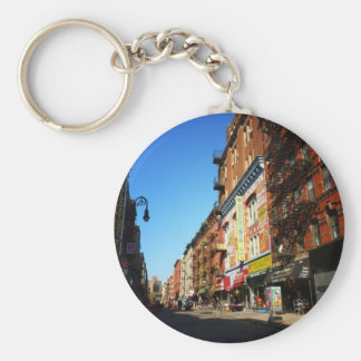 Orchard Street, Lower East Side, NYC Basic Round Button Key Ring