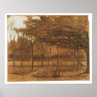 Orchard, Vincent van Gogh, 1881 Poster