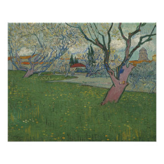 Orchards in Blossom View of Arles by Van Gogh Poster