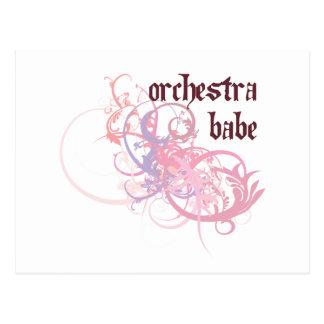 Orchestra Babe Postcard