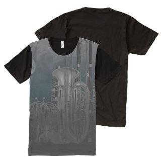 Orchestra Brass Wind Instrument Nighttime Skyline All-Over Print T-Shirt