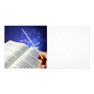 Orchestra Conductor Elements 1 Photo Greeting Card