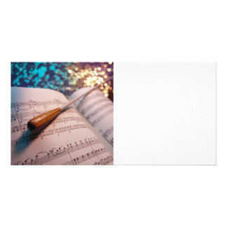 Orchestra Conductor Elements 3 Custom Photo Card