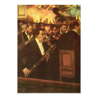 Orchestra of Opera by Degas, Vintage Impressionism 5x7 Paper Invitation Card