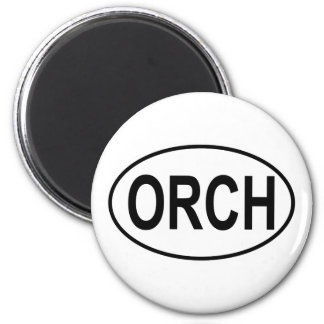 Orchestra Oval 6 Cm Round Magnet