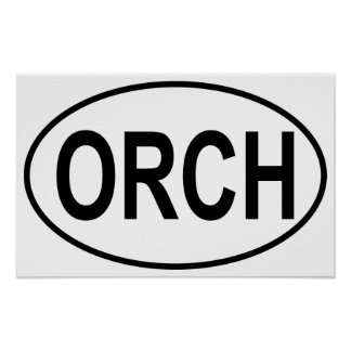 Orchestra Oval Poster