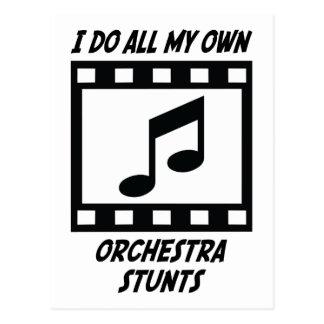 Orchestra Stunts Postcard