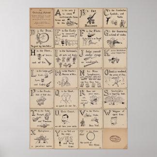 Orchestral Alphabet Poster