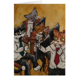 Orchestral Cats Card