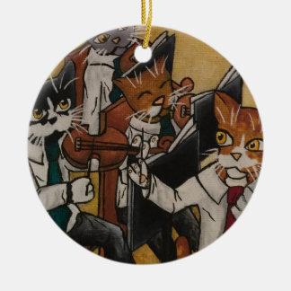 Orchestral Cats Ceramic Ornament