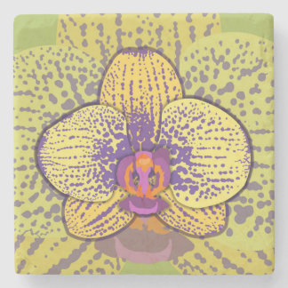 Orchid 1 stone coaster