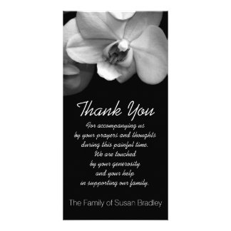 Orchid -1- Sympathy Thank you Photo Card