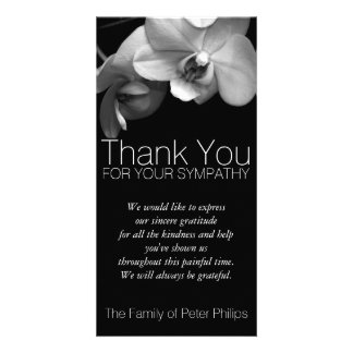Orchid 1b Sympathy Thank you Photo Card