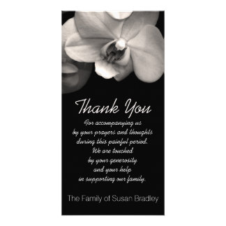 Orchid -2- Sympathy Thank you Photo Card