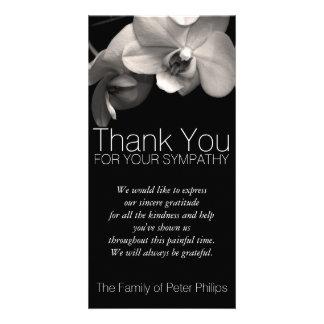 Orchid -2b- Sympathy Thank you Photo Card