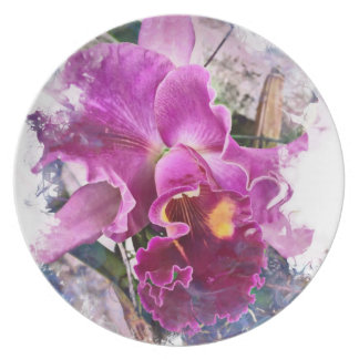Orchid #3 Melamine Plate