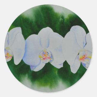 Orchid 3 round sticker