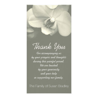 Orchid -5- Sympathy Thank you Photo Card
