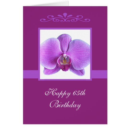 Orchid 65th Birthday Card