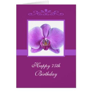 Orchid 75th Birthday Card