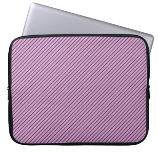 Orchid and Black Stripe Laptop Sleeve