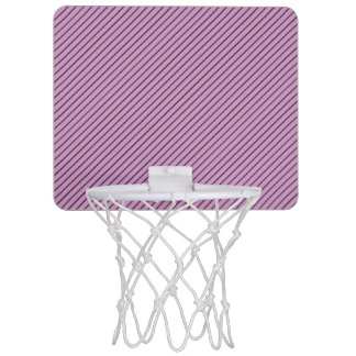 Orchid and Black Stripe Mini Basketball Hoop