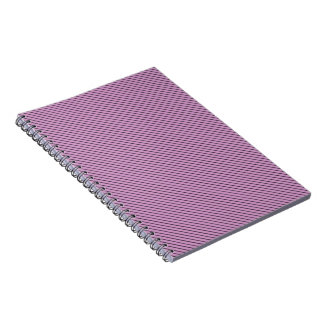 Orchid and Black Stripe Notebook