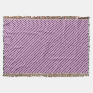 Orchid and Black Stripe Throw Blanket