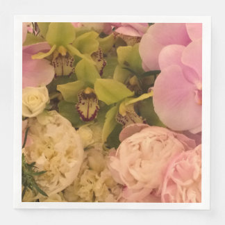 Orchid and Peony paper napkin