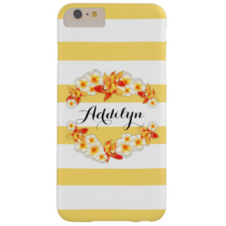 Orchid and Plumeria Flowers, Elegant Barely There iPhone 6 Plus Case