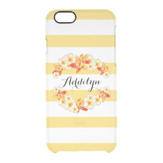 Orchid and Plumeria Flowers, Elegant Clear iPhone 6/6S Case