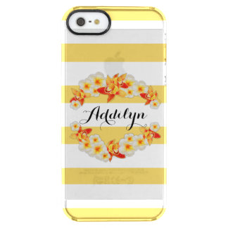 Orchid and Plumeria Flowers, Elegant Clear iPhone SE/5/5s Case
