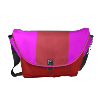 Orchid and Red Courier Bag