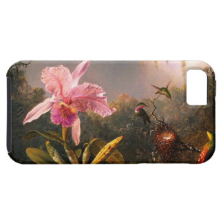 Orchid and Three Brazilian Hummingbirds iPhone 5 Cover