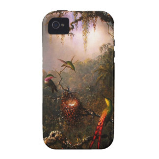 Orchid and Three Brazilian Hummingbirds iPhone 4 Cases