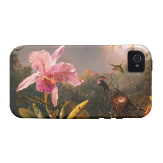 Orchid and Three Brazilian Hummingbirds iPhone 4 Cover