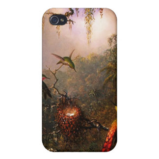 Orchid and Three Brazilian Hummingbirds iPhone 4/4S Cover