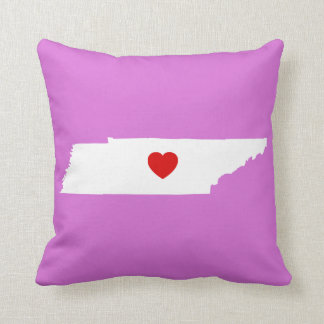 Orchid and White Tennessee with Red Heart Cushion