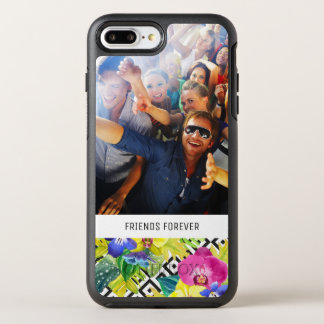 Orchid Begonia & Palms| Add Your Photo & Text OtterBox Symmetry iPhone 8 Plus/7 Plus Case