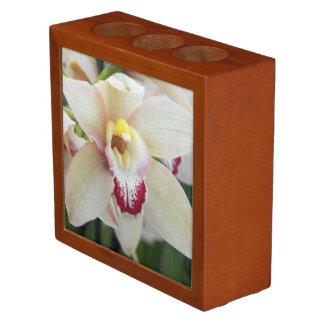 Orchid Bloom Floral Desk Organiser