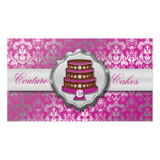 Orchid Cake Couture Glitzy Damask Cake Bakery Pack Of Standard Business Cards